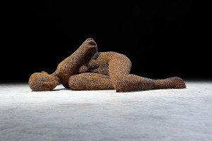 Seo Young Deok, Anguish 190, Iron chain(rust), 139 x 82 x 48(h)cm, 57kg, 2018_LR